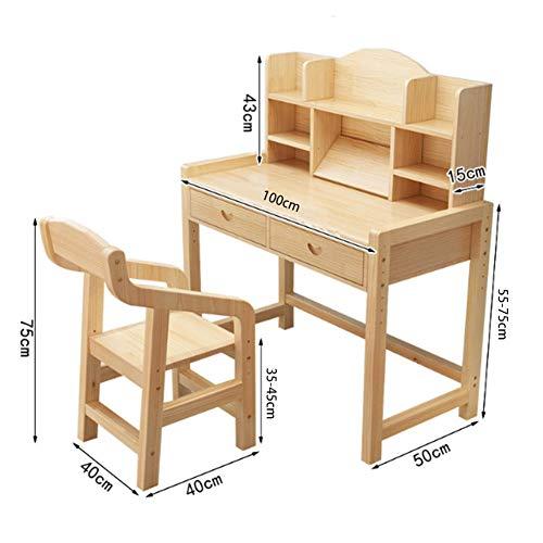 DFQ Elektrischer Schreibtisch,Kinder Stuhl Set Multifunktionale Schüler Schreiben Kinder Studie Tisch Mit Schublade für Jungen und Mädchen Kunst -