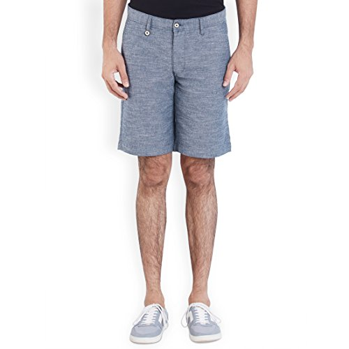 Park Avenue Medium Blue Solid Men's Short