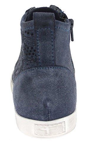 Donne Sneaker 37 38 39 40 41 grigio antico Tamaris 1-25214-210 pelle toccarlo DENIM ANTIC