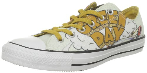Converse Chuck Taylor All Star Green Day Ox, Baskets mode hommes Blanc (Blanc/Or)