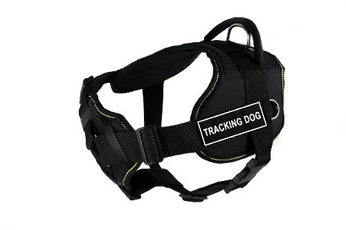 dean-tyler-fun-works-tracking-dog-harness-with-padded-chest-piece-large-fits-girth-size-32-inch-to-4