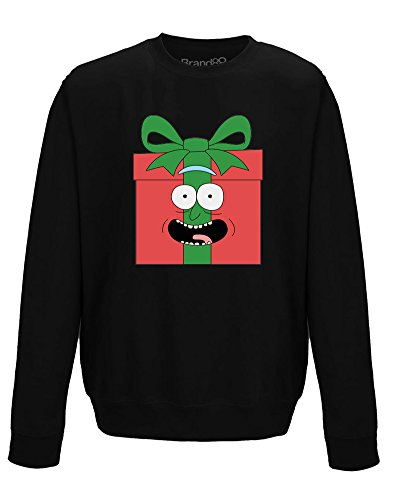 I Turned Myself Into A Present!, Erwachsene Gedrucktes Sweatshirt - Schwarz M = 102cm