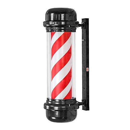 kodnn LED 71cm Poste de Barbero Luminoso,Giratorio Esclarecedor para Peluquería Rayas Impermeable y Blanco Red&Blue