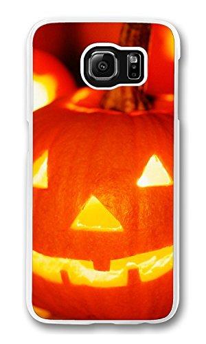 laxy S6Fall die orange Kürbis Halloween Gruppe Schutzhülle transparent Cover für Sommer anpassbare Hard S6transparent Cases ()