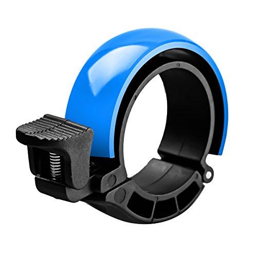 SGODDE Fahrradklingel Laut, O Design Fahrradglocke Radfahren Fahrrad für Alle Fahrrad (3 Farben, Lenker Alarm Horn Ring 22.2-31.8mm) (Dunkelblau)