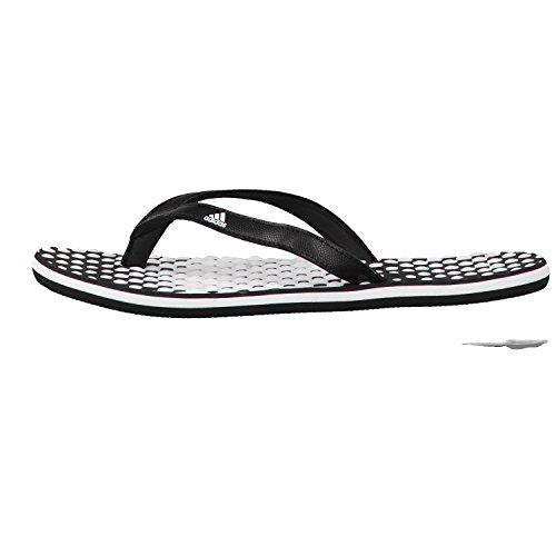 adidas Eezay Dots W, Chaussures de Plage et Piscine Femme, Blanc/Noir/Noir Multicolore (Footwear White/core Black/core Black 0)