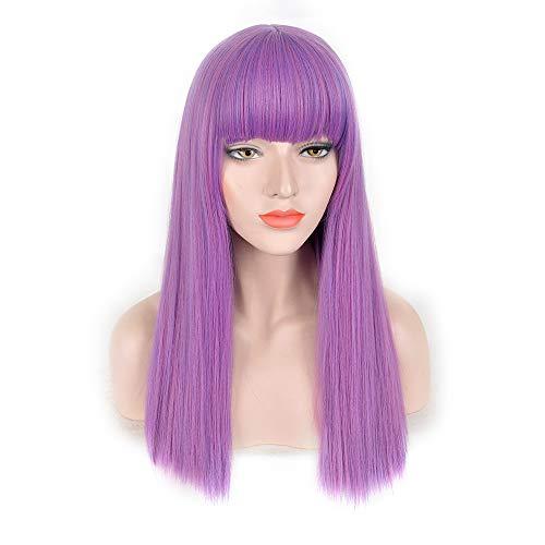 ATG Blonde Lace Front Perücke Lange Wellenförmige Rolle Natürliche Gerade Lila Kurze Gerade Volle Dame Lockige Perücke Cosplay Party