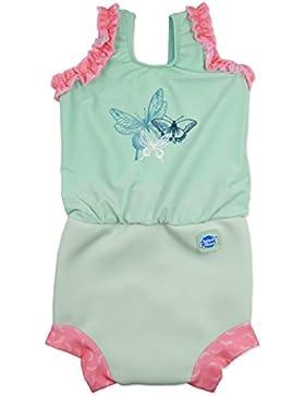 Splash About tuta Baby Nappy per ragazza, Bambina, Splash About Baby Nappy-Anzug, Libelle, 3-8 Monate