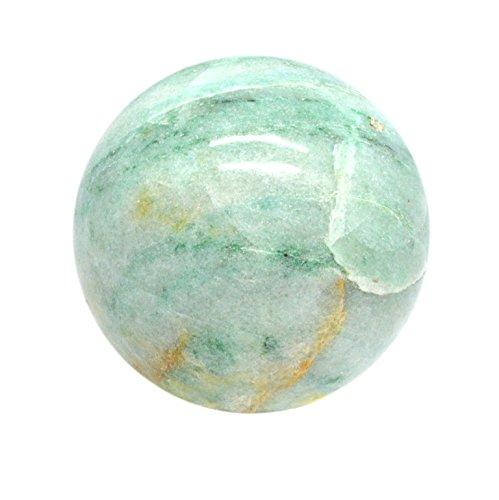 Shivansh Creations Naturel Pierre précieuse sculpté à la main Métaphysiques Sphere Taille 40 Mm-50 mm (Vert Aventuirne)