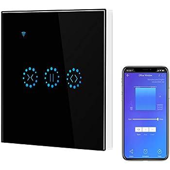 Interrupteur volets roulants commutateur de mur de commande de contact pour le rideau//porte dobturateur de rouleau leegoal commutateur de rideau Wifi Compatible avec Alexa Google Home