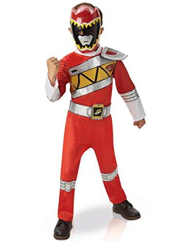 2M Aufladen–Power Rangers Deluxe Dino-Outfit Dekoration, Rot, Größe M (Power Ranger Outfit)