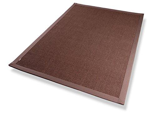 Trend Sisal Teppich Bordürenteppich Naturfaser Läufer Flachgewebe braun mocca, verschiedene Größen, Variante: 200 x 290 cm