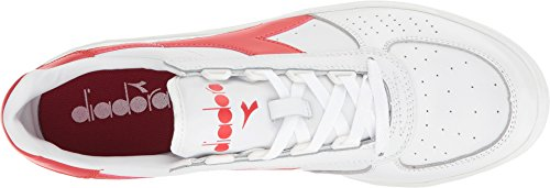 Diadora Unisex-Erwachsene B. Elite Pumps White/Ferrari Red Italy