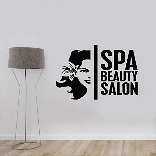 Schönheit Kopf (wandaufkleber 3d Wandtattoo Wohnzimmer Modekurort-Schönheits-Salon-Schönheits-Kopf-Muster-Dekor Logo Window DIY)