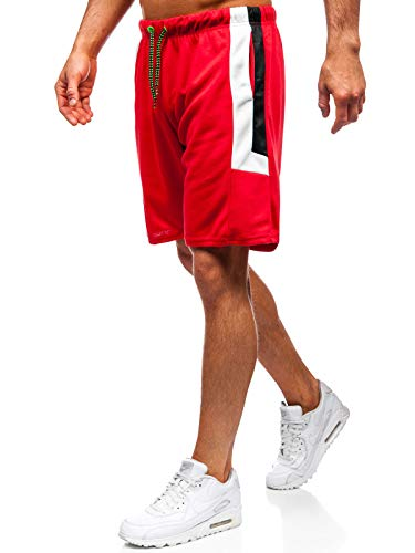 BOLF Herren Hose Kurzehose Sporthose Jogging Sport Style J.Style 81010 Rot M [7G7] -