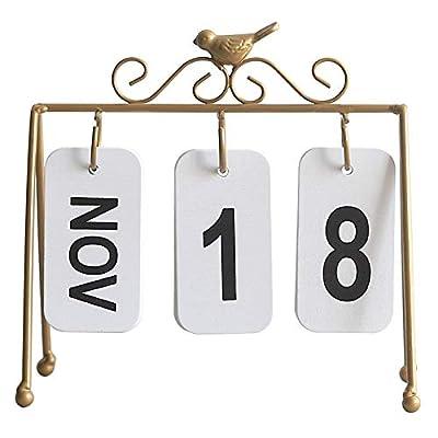 SMAQZ Decoración De Calendario De Flip Europeo Decoración De Mesa De Calendario De Pájaro Creativo por SMAQZ