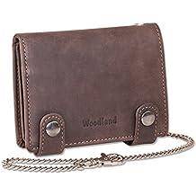 """""""Woodland"""" billetera cadena motorista con 40 cm de largo retrato de la cadena en la piel de ante natural"""