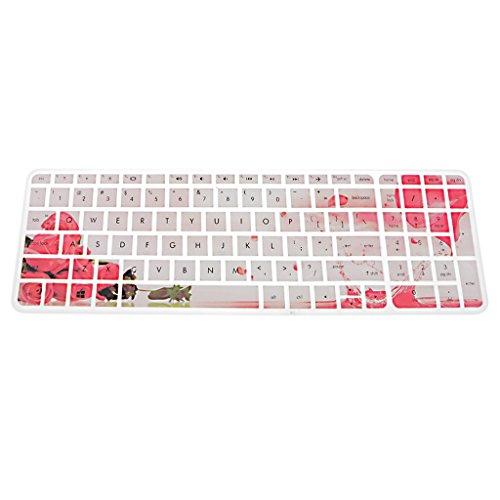 Sharplace Silikon Tastaturschutz Keyboard-Protektor wasserdicht Schutzfilm Skin Silikon Abdeckung Haut für HP Pavilion 15 Zoll - Typ14 Laptop-tastatur-haut-hp
