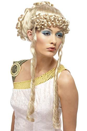 Smiffys Damen Griechische Göttin Perücke mit Locken, One Size, Blond, 42168 (Griechischen Dress Up Kostüme)