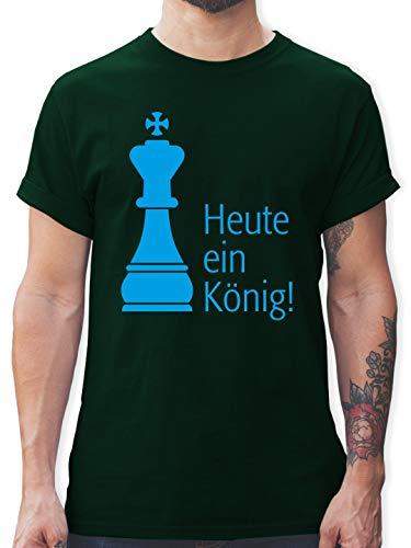 JGA Junggesellenabschied - Heute EIN König - M - Dunkelgrün - L190 - Herren T-Shirt und Männer - Der König Und Ich Kostüm