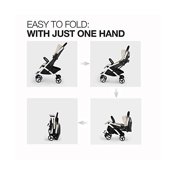 Allis Travel Pushchair Buggy Lightweight Stroller Plume - Beige  High Quality, made according to British Standard EN1888, Fabrick OKo-Tex standard 100 and Fire Safety Regulations 1988. Suitable from 6M ( upto 15Kg Approx) Lightweight 5.8Kg, Travel size and easy to fold with one hand only 8