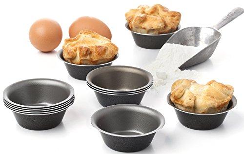 Set mit 12 Mini-Pudding- und Keramik-Förmchen - Pudding Törtchen Pfannkuchen Käsekuchen Torten Muffins Brownies Cupcakes Fondants Pannacotta