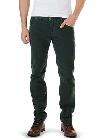 Benetton Pantalon en velours côtelé FR : 46 / EU : 50, vert bouteille