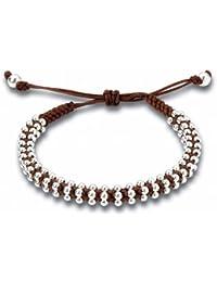Sterling Silver Brown Friendship Bracelet