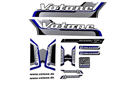 Fahrrad Dekor Satz Aufkleber Rahmen Frame Decal Sticker Votone Coyote Label Blau (Fahrrad Rahmen Aufkleber)