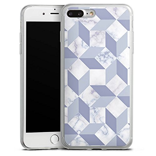 Apple iPhone 8 Slim Case Silikon Hülle Schutzhülle Marmor Art Muster Silikon Slim Case transparent