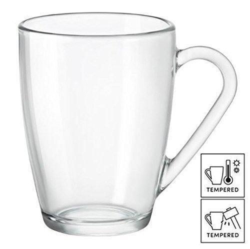 6 X Grande tasse à café/thé/café latte en verre 32 cl (11 Œ oz)