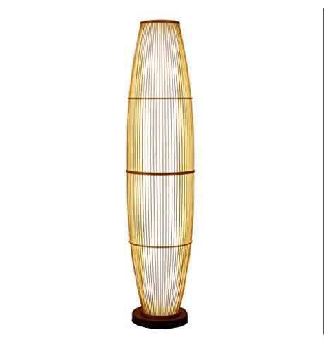 ZHDC® Stehleuchte, Bambus-Lampen Neue chinesische Stil Vertikale Wohnzimmer Schlafzimmer Japanischen Stil Balkon Teestube Stehende Lichter Die ursprüngliche Bambus Farbe 30 x 130 cm Stehlampe -