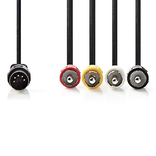 TronicXL 5 Pin Kabel 5-polig Din Stecker auf 4-Cinch Stecker Audio für Electrophonic Bang & Olufsen Naim Quad Midi (1m)