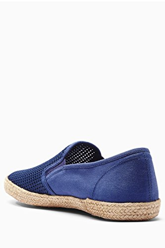 next Uomo Scarpe Easy-On In Iuta A Rete Blu navy