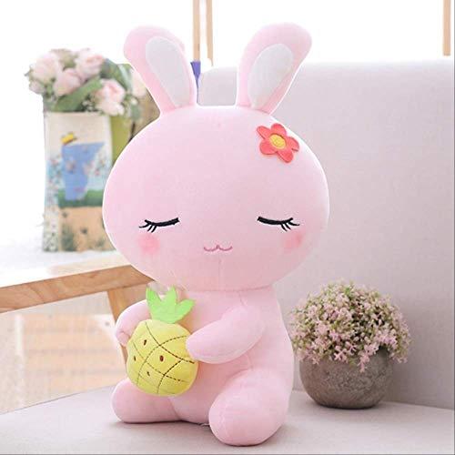 Toymoo simpatici coniglietti pasquali di peluche ripiene, bambole di peluche di coniglio animale, baby placare sonno bambola per dormire giocattoli regalo per bambini 22 cm rosa