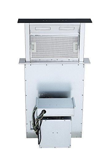 41ZCntmcRKL - Cookology Downdraft Extractor Fan 60cm Kitchen Island Cooker Hood (Stainless Steel & Black)