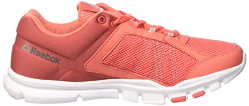 Reebok Bd5549, Chaussures de sport femme Orange (Arancione Fire Coral/canyon Red/white/skull Grey/s)