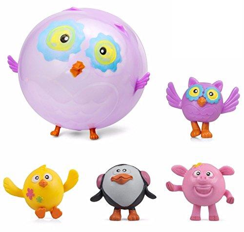 ufblasbar, sortiert Farm Blow Up Squeeze Bouncing Bälle Geschenk von Lizzy® (Pack of 8) (Blow Up Tiere)