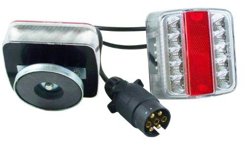 Berger + Schröter 20187 LED Anhänger-Vierfunktionsleuchte mit Magnethalter, 7-poliger Stecker