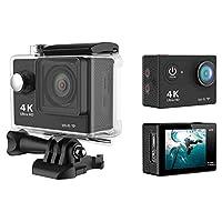 H9 4K الترا اتش دي 1080P واي فاي اكشن كاميرا فيديو رياضي DV تسجيل فيديو 60M مقاوم للماء أسود