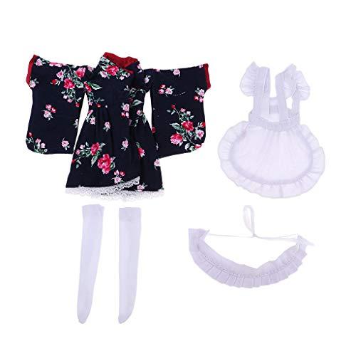 D DOLITY Niedliche Puppe Kleid / Kimono / Halloween Kleidung mit andere Zubehör für 1/6 BJD BB Puppen Dress Up - # 3