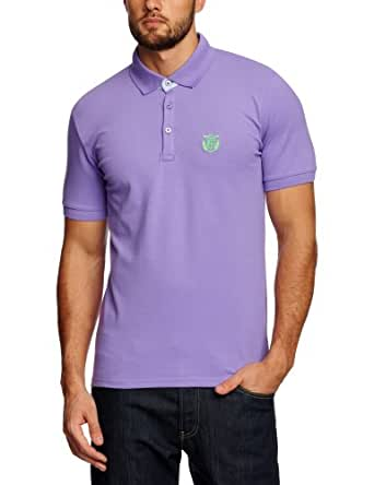 SELECTED HOMME Herren T-Shirt Aro ss embroidery polo s NOOS, Gr. X-Small, Violett