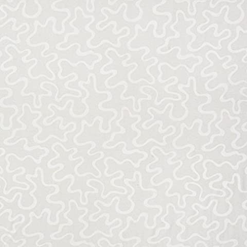 U0090B Ivory Abstract Large Squiggly Pattern Upholstery Fabric By The