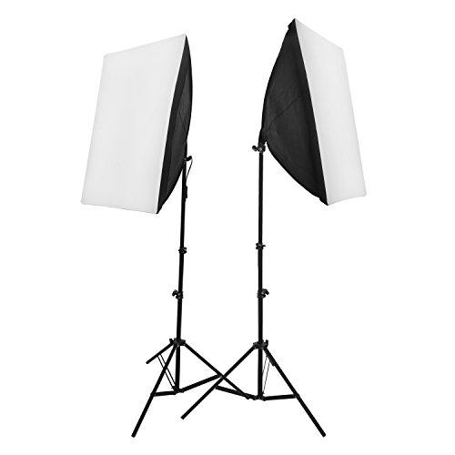 2 x Kit de Iluminación 50x70cm softbox Fotografía Continua luz Daynight Foto...