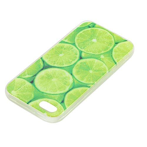iPhone SE 5 5S Hülle, iPhone SE 5 5S Weiche flexible Silikon-Handy-Hülle ,Cozy Hut iPhone SE 5 5S Schutzhülle Case Silikon- Crystal Clear Ultra Dünn Durchsichtige Backcover Handyhülle TPU Case für iPh Kalk