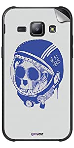 GsmKart GLXJ1 Mobile Skin for Samsung Galaxy J1 (Blue, Galaxy J1-622)