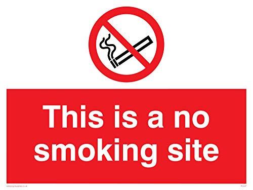Viking Schilder pc537-a3l-acist das Rauchen nicht gestattet Website Schild aus Aluminium, Composite, 300mm H x 400mm W
