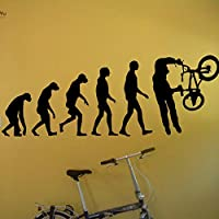 Ajcwhml Vinyl Wallpaper Sticker BMX Evolution Bike Bicycle X Decals Home Decor Adesivo Art Repetable Decoration 57X22Cm
