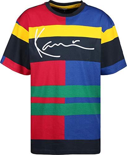 3cb25ad18fe0ec Karl Kani Signature Block Camiseta BLU/Red/grn/yllw