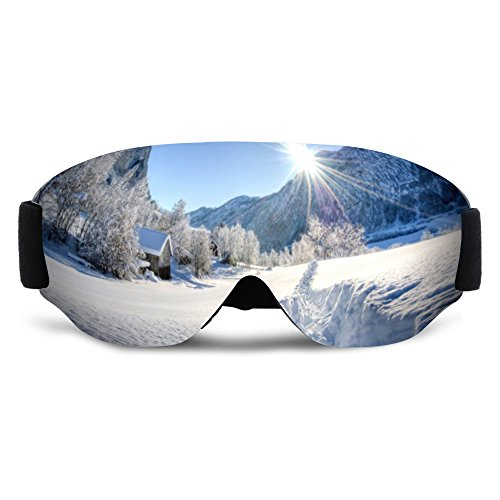 SHEEN KELLY Skibrille,Ski Snowboard Brille Brillenträger Schneebrille Snowboardbrille Verspiegelt - Für Damen Herren Frauen Jungen